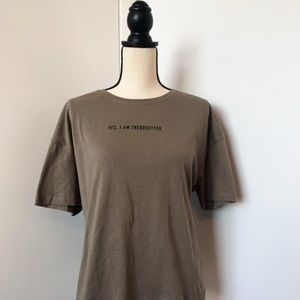 ZARA 'Yes, I'm a trendsetter' graphic tee